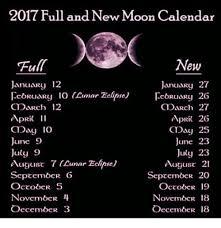 2017 Full And New Moon Calendar New Full January 12 January