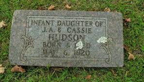 HUDSON, INFANT DAUGHTER - Boone County, Arkansas | INFANT DAUGHTER HUDSON -  Arkansas Gravestone Photos