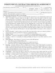 Free Printable Contract Forms Free Printable Independent Contractor Agreement Form Printable 22