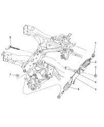 2004 dodge dakota gear rack pinion power steering thumbnail 2