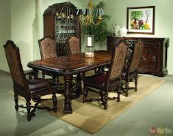 dining room furniture styles. Dining Room : An Antique Furniture Styles In A Green That Filled With Royal Vibes From The Premium Wood Table, Cabinets, Buffets, D