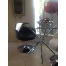 new modern black swivel dining chair black faux leather swivel chair