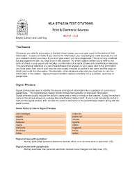 Mla Style In Text Citations Print Electronic Sources