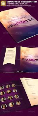 colors graduation program templates graduation graduation program templates