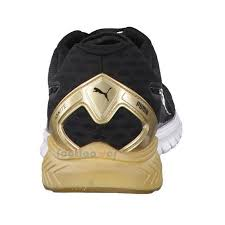 puma shoes gold. zoom immagine shoes puma ignite dual gold 189153 02 woman run gym black gold limited edition