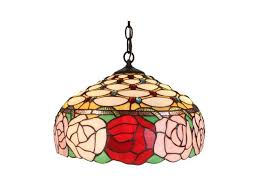 amora lighting am034hl16 tiffany style roses 366 piece hanging lamp 2 light