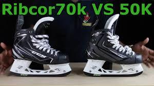 reebok 50k skates. ccm ribcor 70k vs 50k ice hockey skates review - what has changed? reebok h
