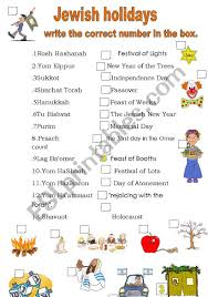 Holiday Name The Jewish Holidays Names And Their Meanings Esl