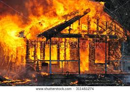 Image result for house burning