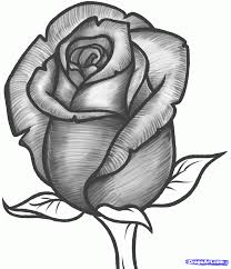 How To Draw A Rose Bud Rose Bud Step 10 Things I Cant Afford