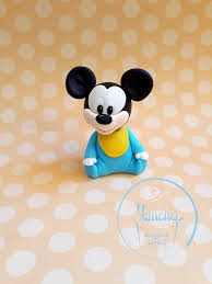 Fondant Edible Baby Mickey Mouse Cake Topper 3d Figure Baby Shower