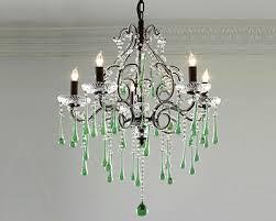 green chandelier shades of light