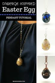 faberge inspired polymer clay easter egg pendant tutorial the beading gem s journal