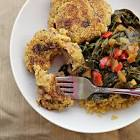 black eyed pea cakes   to go with collard greens