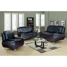 Leather Living Room Sets On Latitude Run Algarve 3 Piece Leather Living Room Set Reviews