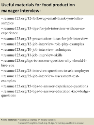 Resume Sample For Production Manager Best of Top 24 Food Production Manager Resume Samples