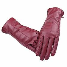 details about women s touchscreen texting driving winter warm red pu leather gloves by long