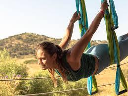 levitating with aerial yoga la donaira