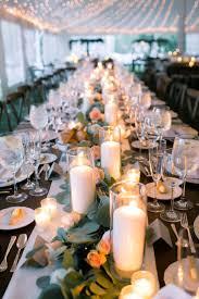 Rustic + Elegant Fall Wedding. Candle CenterpiecesWedding CenterpiecesRectangle  Table ...