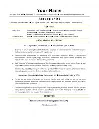 front office resume examples make resume cover letter receptionist resume samples office