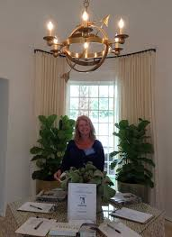 a volunteer in the foyer