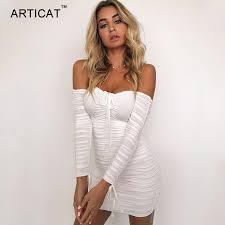 Articat <b>Women</b> Autumn Winter Bandage Dress <b>Women</b> 2019 <b>Sexy</b> ...