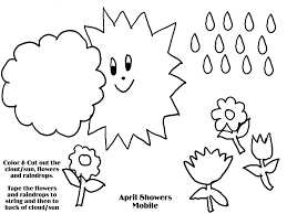 Small Picture Coloring Pages April Showers Bring May Flowers Coloring Page Free