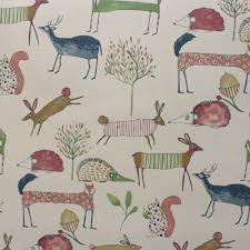 Curtain Fabric Prestigious Textiles Oh My Deer Berry Curtain Fabric Closs Hamblin