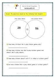 Venn Diagram Practice Sheets Venn Diagram Reading Comprehension Worksheets Design Tab In