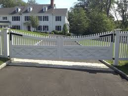 Picket Fence Driveway Gate Fences Design