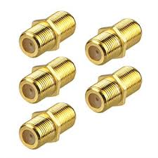 VCE 5-Pack Gold Plated <b>F</b>-<b>Type Coaxial</b> RG6 <b>Connector</b>,Cable