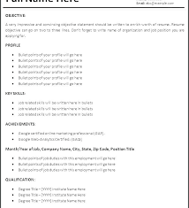 Job Resume Outline Example Printable Resume Samples First Job Resume ...