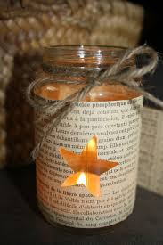 Mason jar - take a page from a book, cut out a shape and mod  Diy CandlesBook  ...