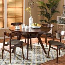 mid century modern dining room furniture flamingo medium brown dining table mid century modern round dining