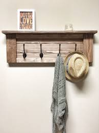 Door Hanging Coat Rack Rustic Wooden Entryway Walnut Coat Rack door cherrytreegallery 11