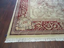 7 of 12 10 x 14 vintage chinese hand made wool rug aubusson savonnerie design nice