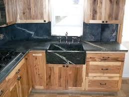 cedar kitchen cabinets furniture marvelous unvarnished cedar kitchen cabinet system with dark polished soapstone also single black square farmhouse sink in