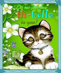 Kitty Wants To Say Hi-hello To You. Free Hi-hello eCards, Greeting Cards |  123 Greetings
