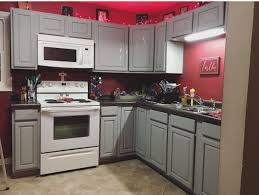 Gray Kitchen Cabinets With Red Walls Home Ideas In 2019 Red