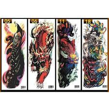3d Diy Large Temporary Tattoo Arm Body Art Removable Waterproof Tattoo Sticker