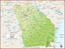 georgia physical state map