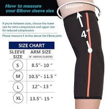 Elbow Sleeve Size Chart Sguten Elbow Brace Compression Support Sleeve Elbow Sleeve Tendonitis Pair For Running Crossfit Basketball Weightlifting Gym Etc Arthritis Pain
