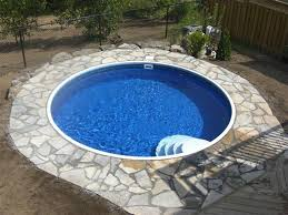 here are some photos from our customers who have installed their own semi inground pools and transformed their yards