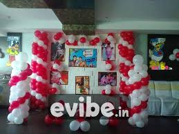 simple balloon decor on wall birthdays party decoration