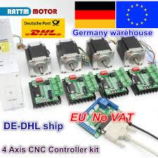 EU 4 <b>Axis CNC</b> Router <b>Kit</b> 4pcs <b>1 axis</b> TB6560 driver & interface ...