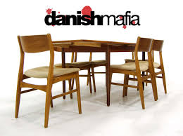 teak dining room table and chairs. Charming Brown Wooden Dining Chairs And Rectangular Scandinavian Teak Table Room
