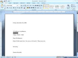 Word 2007 Creating Form Letters Youtube