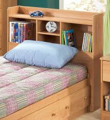 Image of: Solid Wood Bookcase Headboard