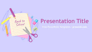 Ppt Background School Free Back To School Powerpoint Template Prezentr