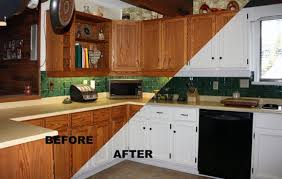 painting kitchen cabinets before and afterPainting Kitchen Cabinets White Before And After Pictures  Decor